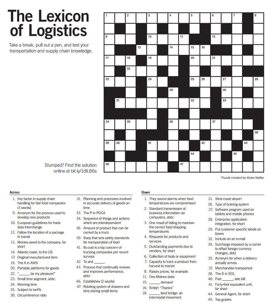 "Quick Logistics On Twitter: ""think You Are A #logistics Expert? Test - Printable Expert Crossword Puzzles"