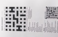 Quickcrossword Hashtag On Twitter – Guardian Quick Crossword Printable Version