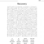 Recovery Word Search   Wordmint   Printable Recovery Crossword Puzzles