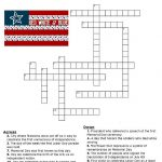 Red, White And Blue Holidays Crossword Puzzle | * Printables   Printable Fourth Of July Crossword Puzzles