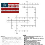 Red, White And Blue Holidays Crossword Puzzle   Three Kids And A Fish   Printable 4Th Of July Crossword Puzzle