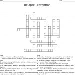 Relapse Prevention Crossword   Wordmint   Printable Recovery Crossword Puzzles