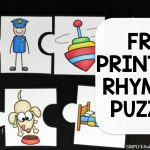 Rhyming Puzzles   Simply Kinder   Printable Rhyming Puzzles
