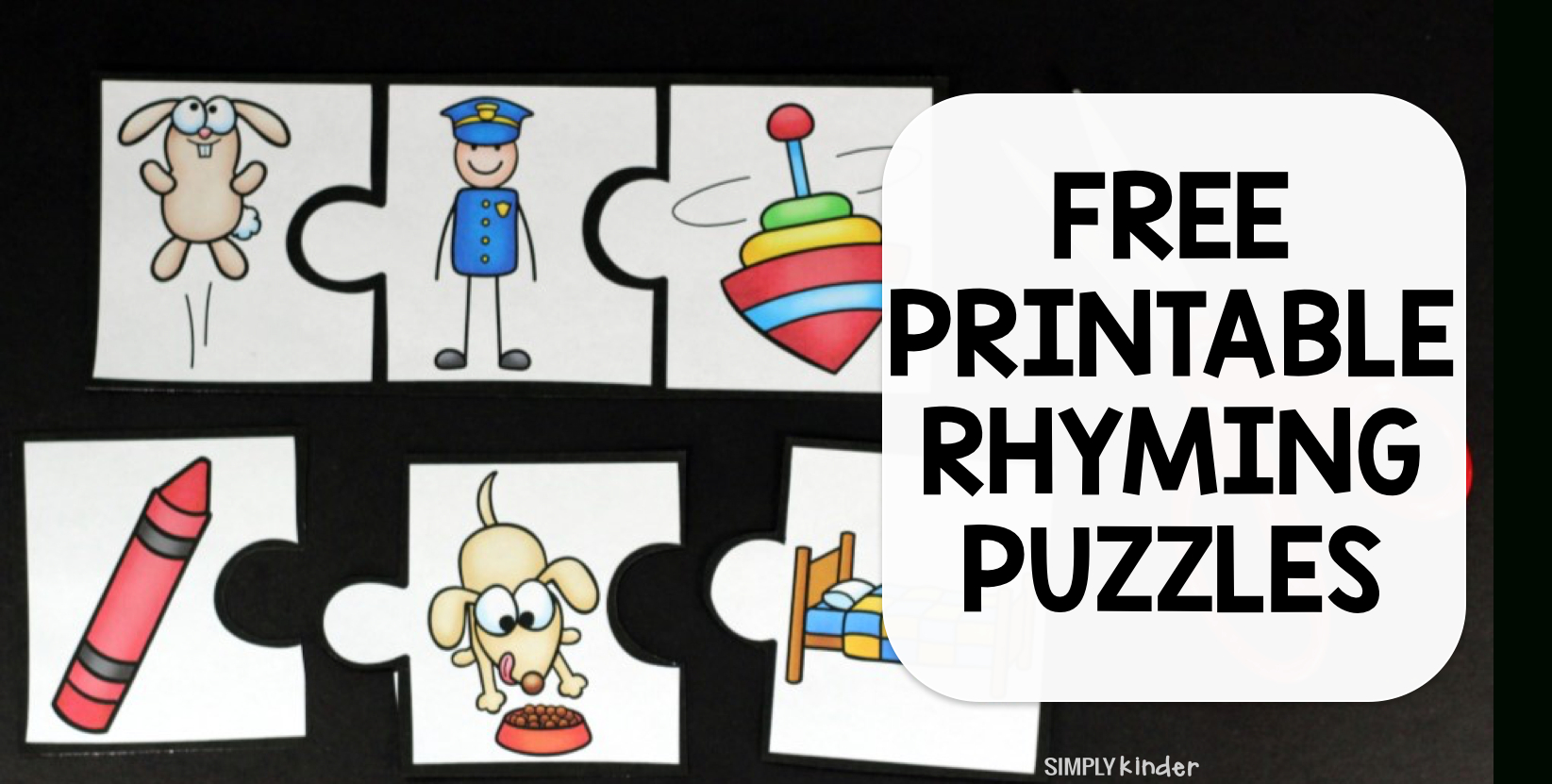 Rhyming Puzzles - Simply Kinder - Printable Rhyming Puzzles