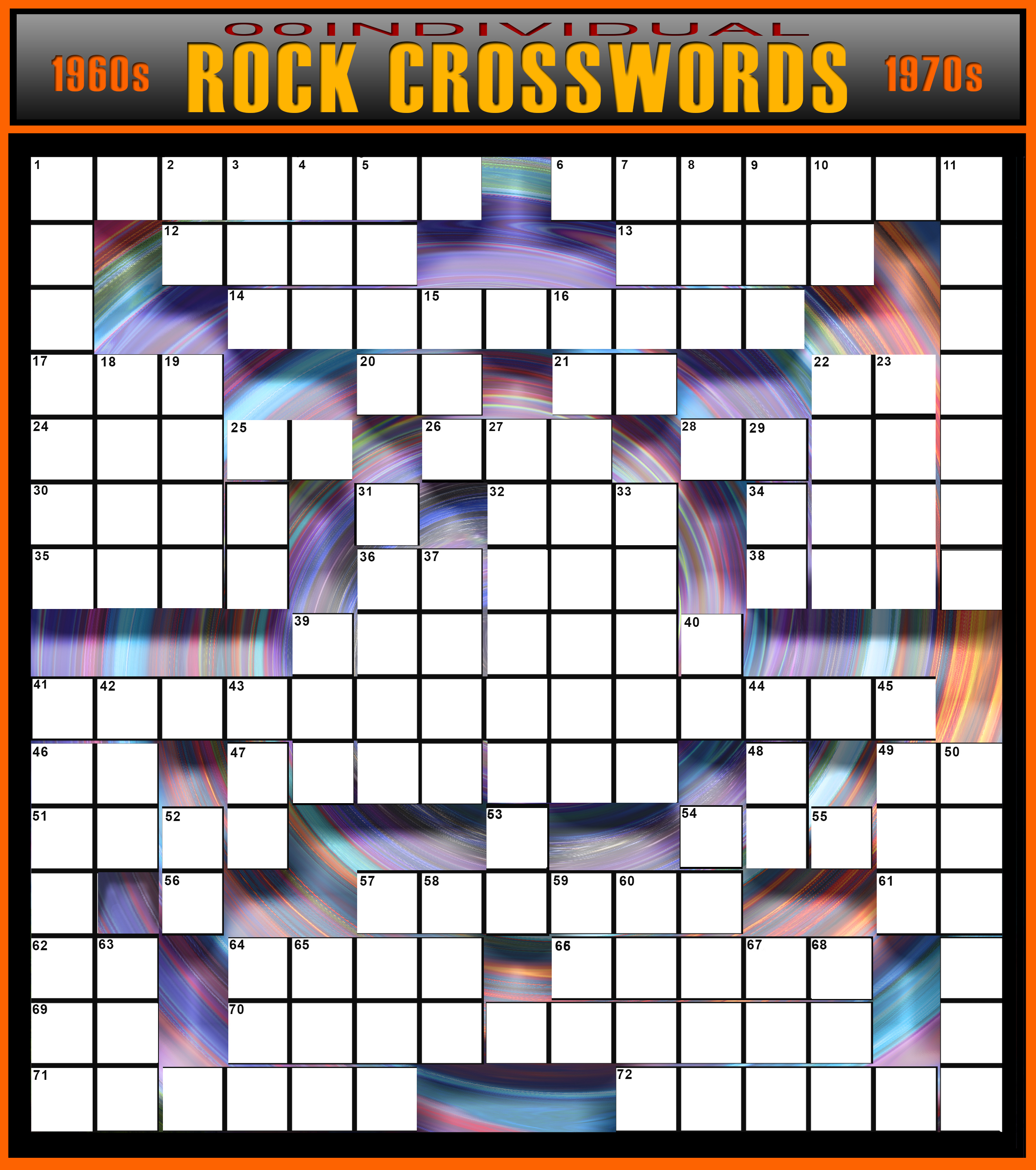 Rock 'n' Roll Crossword Puzzle | 00Individual - Printable Rock And Roll Crossword Puzzles