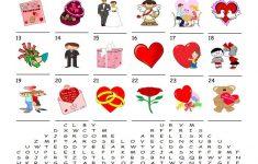 Saint Valentine's Day – Word Search Puzzle Worksheet – Free Esl – Printable Valentine Heart Puzzle