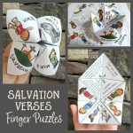 Salvation Verses Finger Puzzle   Path Through The Narrow Gate   Printable Christmas Finger Puzzle With Bible Verses