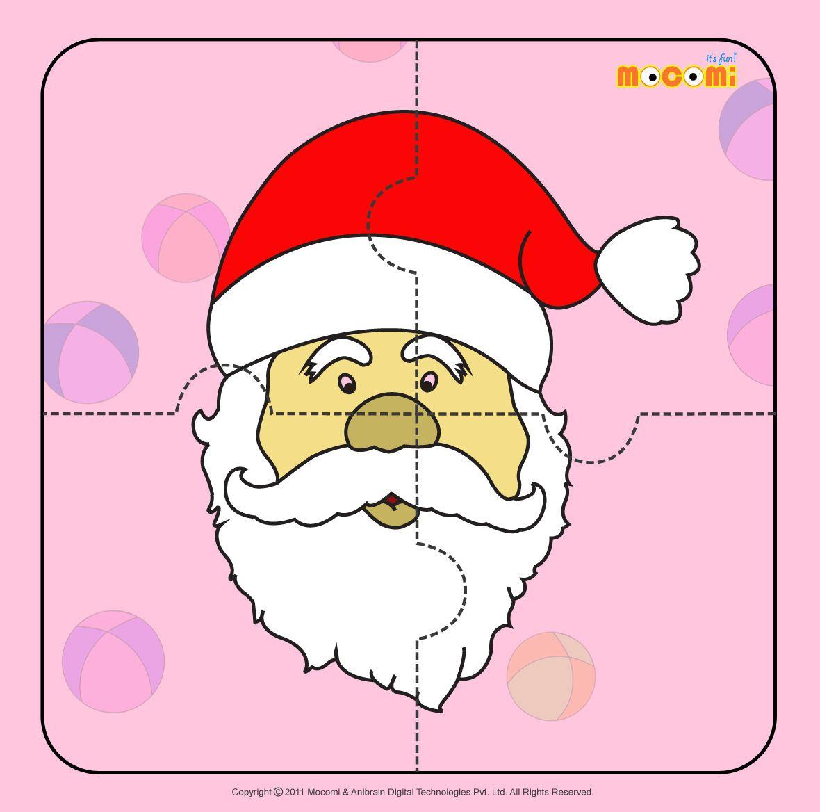 Santa Claus 2 - Jigzaw Puzzles For Kids   Printables For Kids - Printable Jigsaw Puzzle For Toddlers