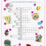 School Subjects Crossword Puzzle Worksheet   Free Esl Printable   Printable Crossword Puzzles By Subject