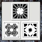 Set 3 Hellraiser Lament Configuration Puzzle Box Stencils Hellbound   Printable Hellraiser Puzzle Box