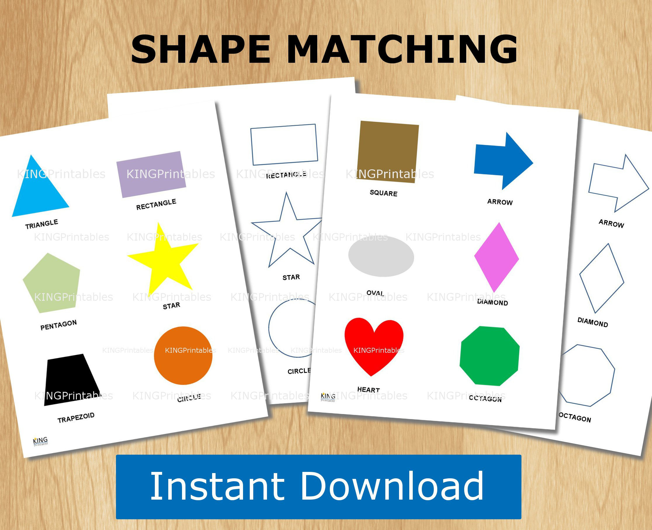 Shape Puzzle Toddler Learning Printable File Folder Games | Etsy - Printable Puzzle Toddler