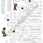 Simple Past – Crossword Puzzle – Esl Worksheetluoliveira – Simple Crossword Puzzles Printable Pdf