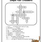 Simple Past Crossword Worksheet   Free Esl Printable Worksheets Made   Simple Crossword Puzzles Printable Pdf