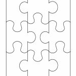 Small Puzzle Pieces Template   8 Piece Puzzle Printable