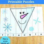 Snowman Shapes For Kids Printable Puzzles – Jdaniel4S Mom – Printable Snowman Puzzle