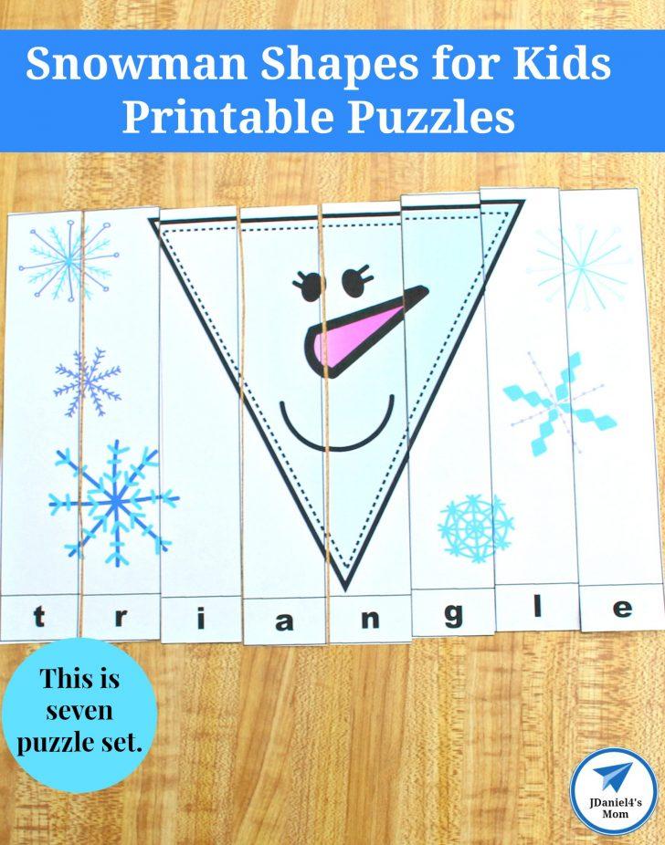 Printable Snowman Puzzle