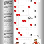 Soccer Crossword Worksheet   Free Esl Printable Worksheets Made   Football Crossword Puzzle Printable