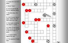 Soccer Crossword Worksheet – Free Esl Printable Worksheets Made – Printable Crossword Puzzles Soccer