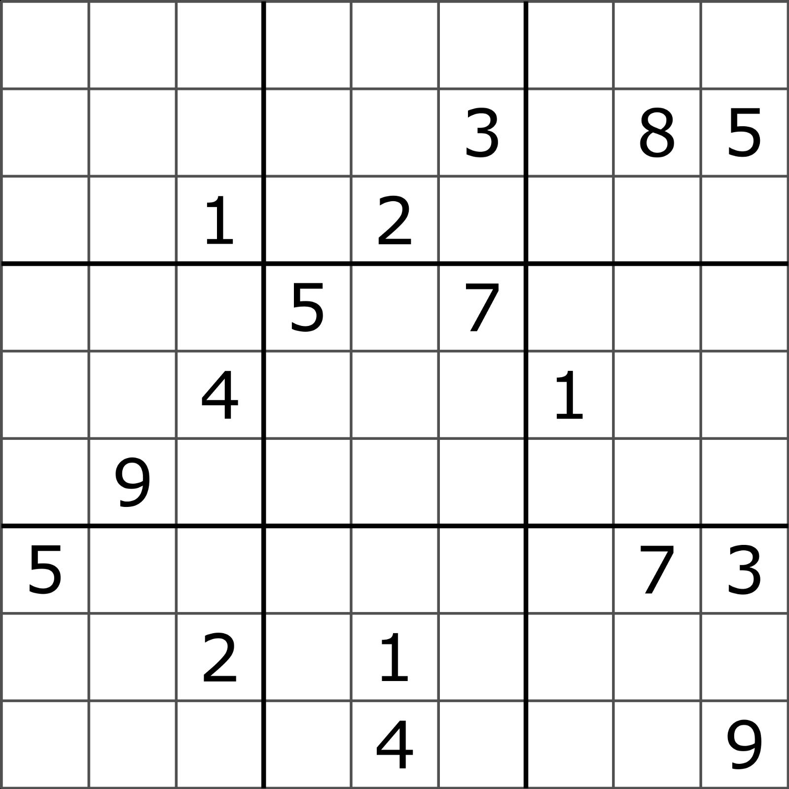 Solving Sudoku Using A Simple Search Algorithm – George Seif – Medium - Printable Sudoku Puzzles 9X9