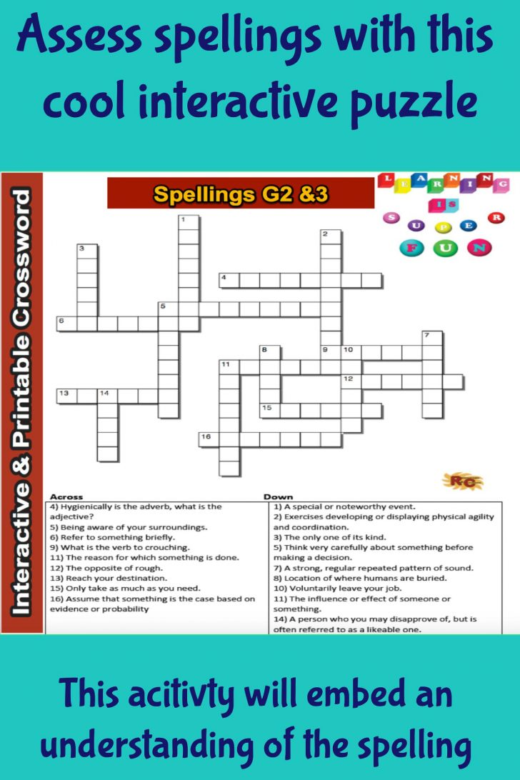 Fun Crossword Puzzles Printable