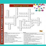 Spelling Grade 2&3 Interactive & Printable Crossword Puzzle | Word   Printable Crossword Puzzles Business And Finance