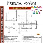 Spelling Interactive & Printable Crossword Puzzle Grade 2&3 | Grade   Printable Crossword Puzzle Grade 3