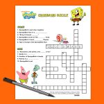 Spongebob Crossword Puzzle | Nickelodeon Parents   Printable Birthday Crossword Puzzles