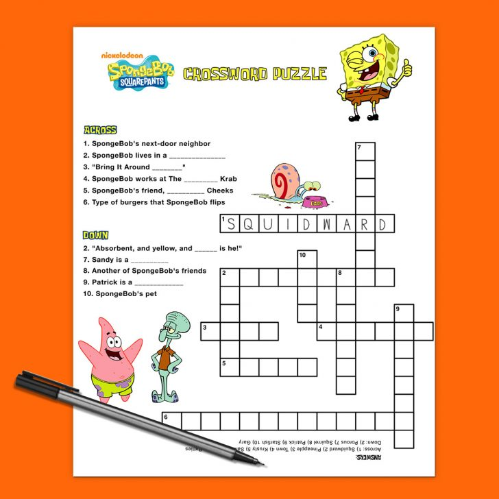 Printable Teenage Crossword Puzzles