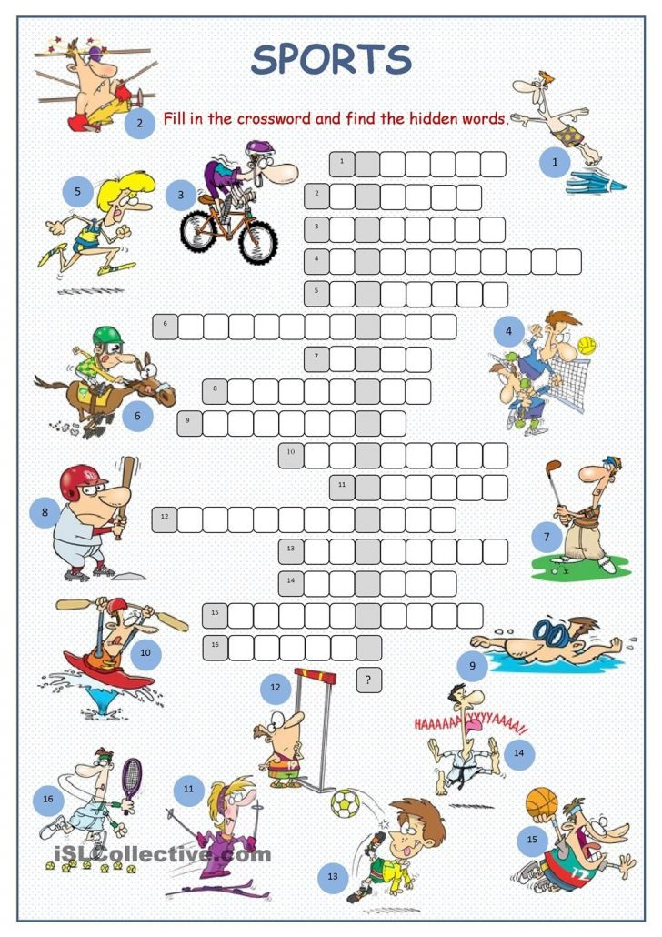 Printable Crossword Puzzles Sports