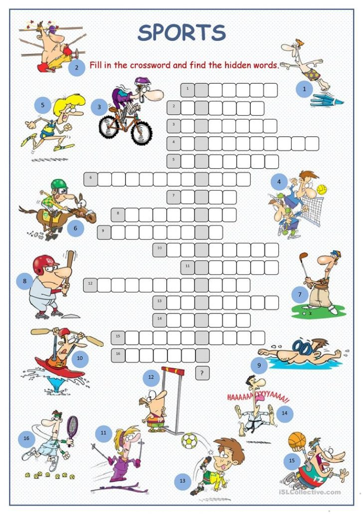 Printable Crossword Puzzles For Esl Learners