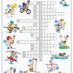 Sports Crossword Puzzle Worksheet   Free Esl Printable Worksheets   Printable Easy Crossword Puzzles For Esl Students