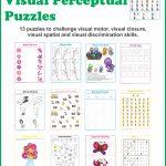Spring Visual Perceptual Puzzles   Growing Play   Printable Visual Puzzles