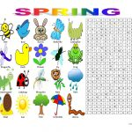 Spring Vocabulary (Wordsearch Puzzle) Worksheet   Free Esl Printable   Printable Vocabulary Puzzles