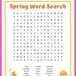 Spring Word Search Free Printable Worksheet For Kids   Printable Worksheets Word Puzzle