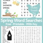 Spring Word Search   Printable Spring Puzzles