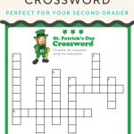 St. Patrick's Crossword | Elementary Activities And Resources | St   Free Printable St Patrick's Day Crossword Puzzles