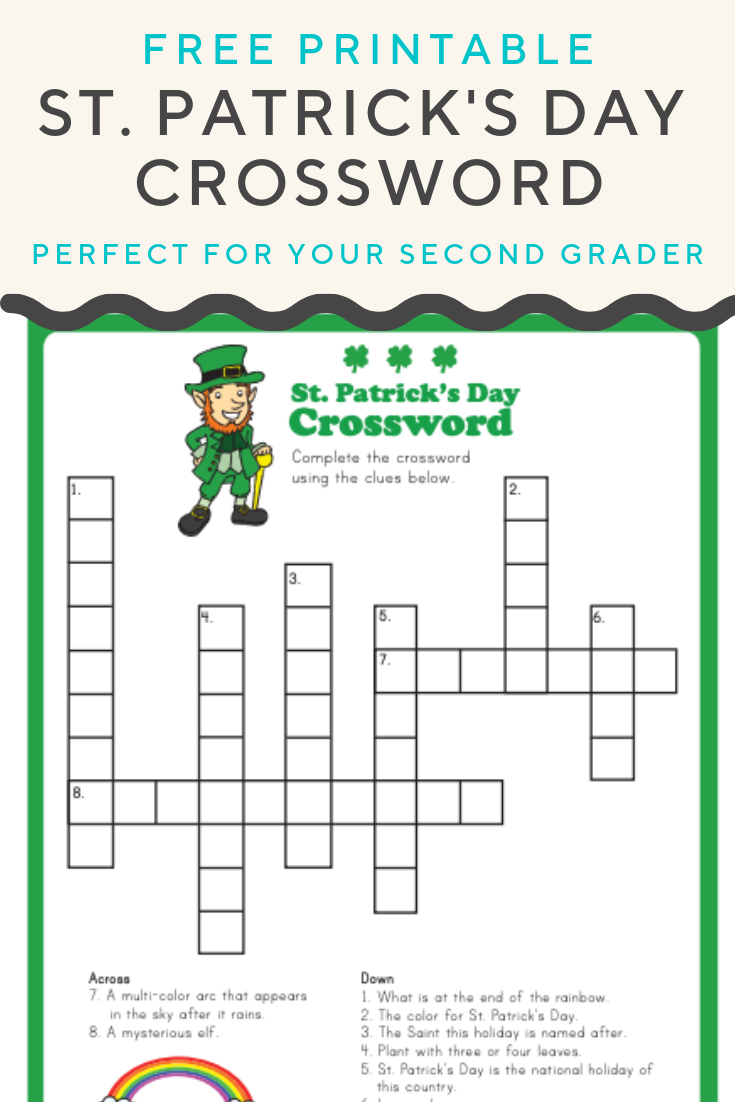 St. Patrick's Crossword | Elementary Activities And Resources | St - St Patrick's Day Crossword Puzzle Printable