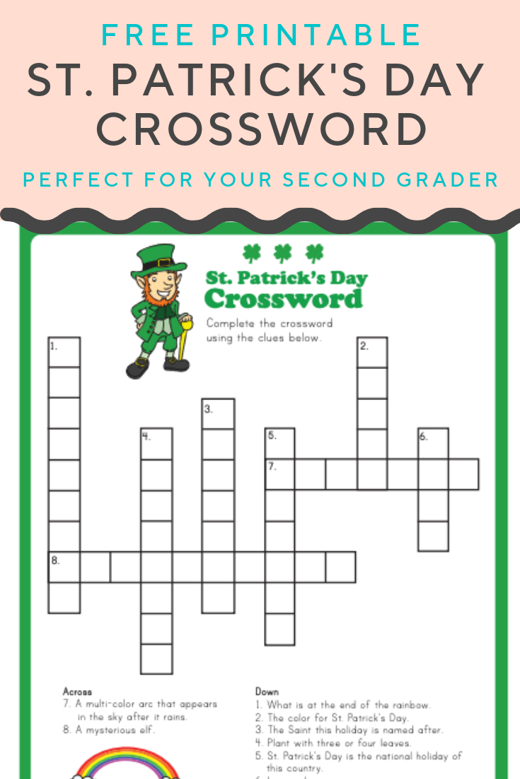 St. Patrick's Crossword | Puzzles And Mazes | Crossword, Puzzles For - Free Printable Crossword Puzzles Holidays