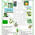 St Patrick's Day Crossword Worksheet   Free Esl Printable Worksheets   Free Printable St Patrick's Day Crossword Puzzles