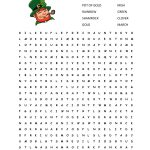 St. Patrick's Day Word Search {Free Printable!} | Cook. Craft. Love.   St Patrick's Day Crossword Puzzle Printable