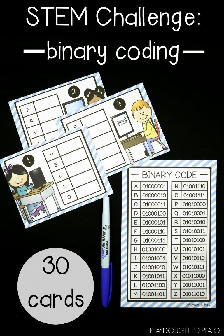 Stem Challenge: Write Computer Code | Lesson Plans & Printables - Printable Binary Puzzles
