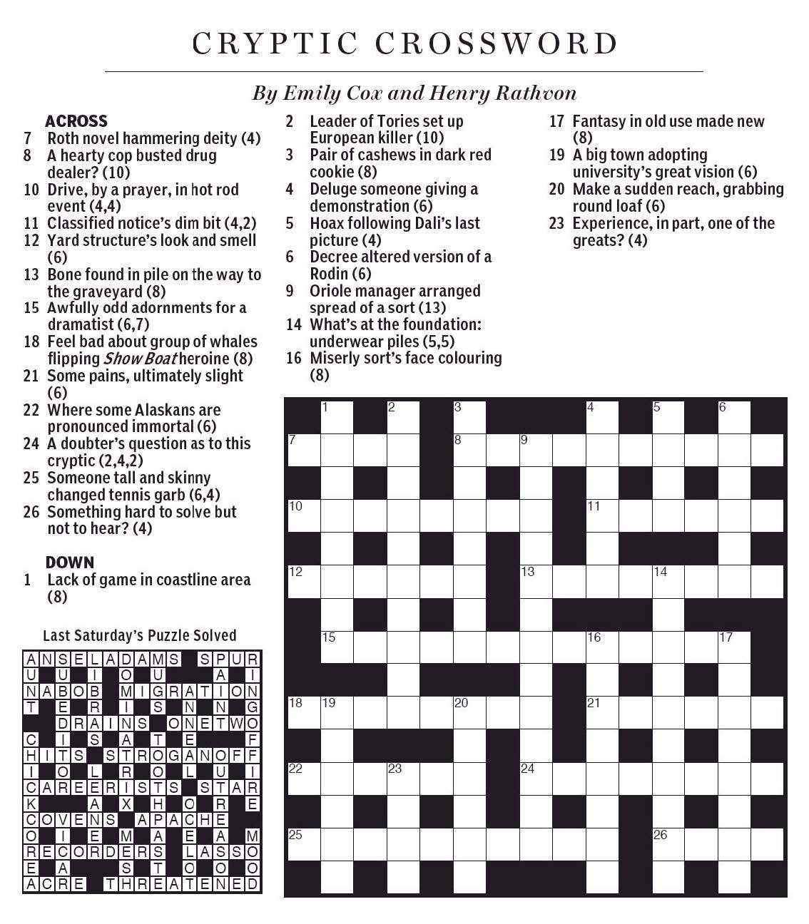 Style Of Dance Crossword Clue - Printable Crossword Puzzles By Eugene Sheffer