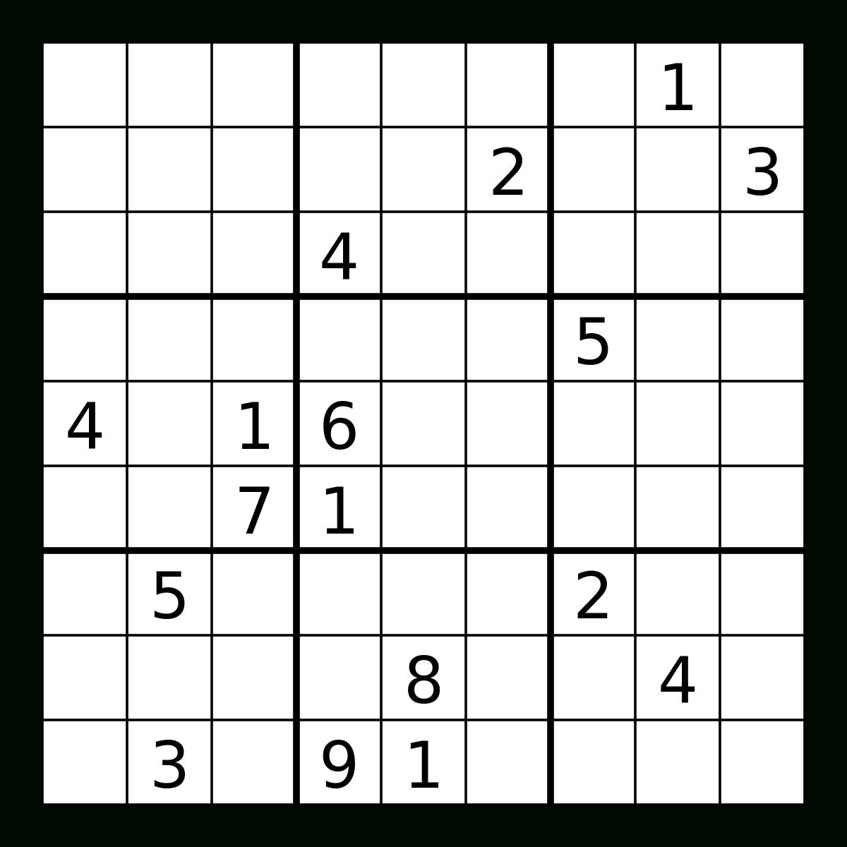 Sudoku Coursework Sample - Printable Sudoku Puzzles 3X3