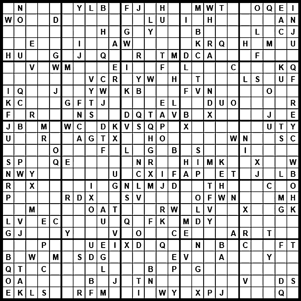 Sudoku: Einstein Level - Printable Einstein Puzzles