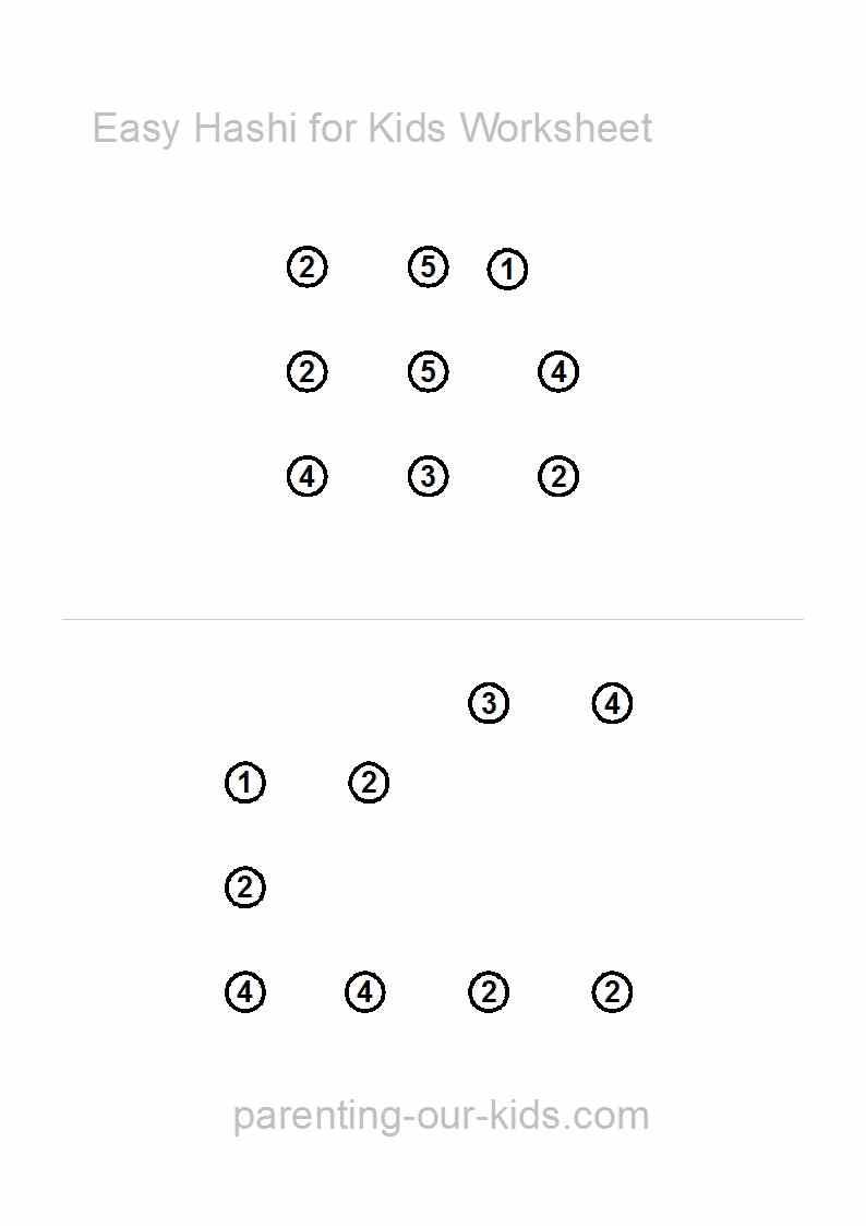 Sudoku For Kidsprintable Sudoku Puzzles- An Easy Start For - Printable Hashi Puzzles