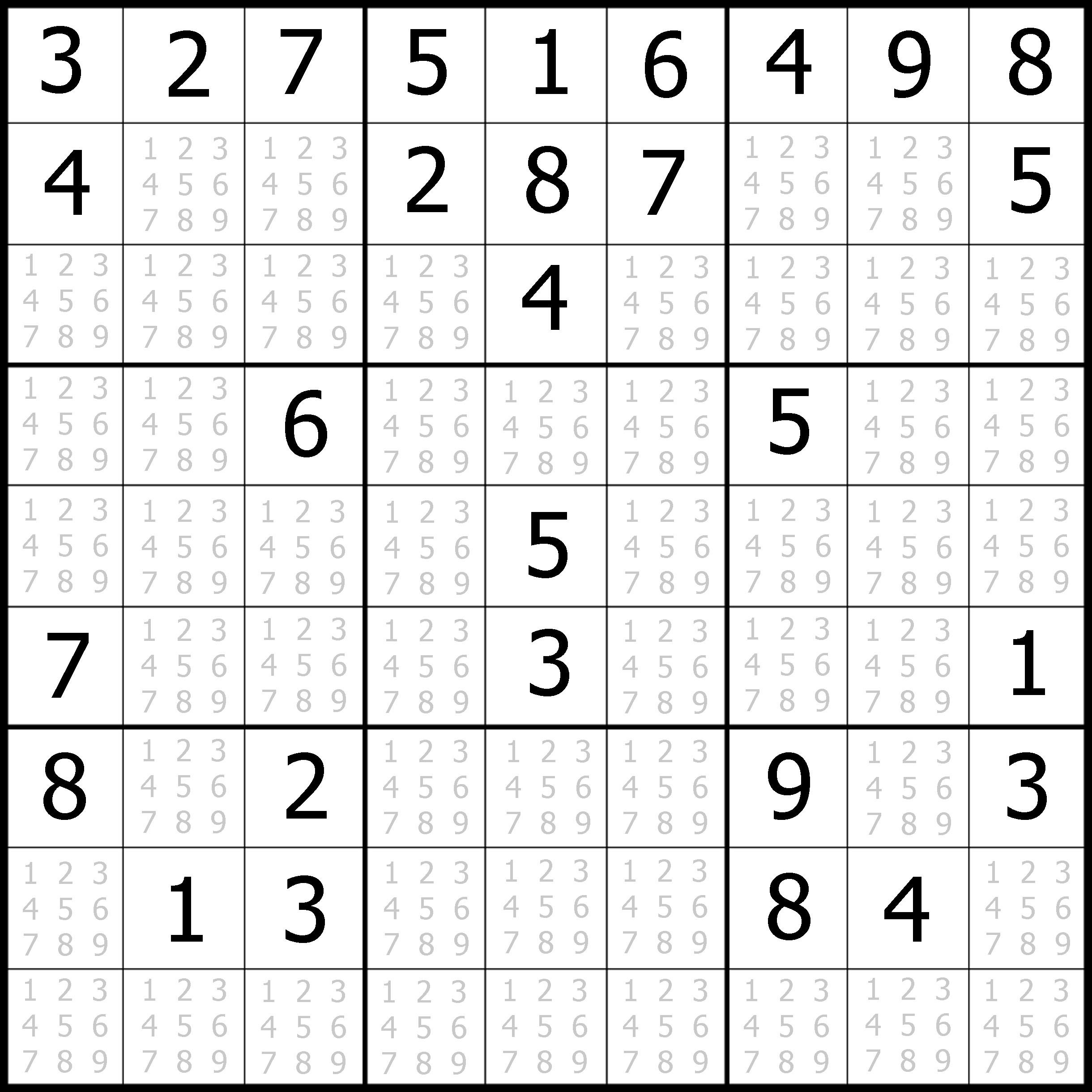 photograph relating to Printable Sudoku for Kids identified as Printable Sudoku Puzzles Simple #1 Printable Crossword Puzzles