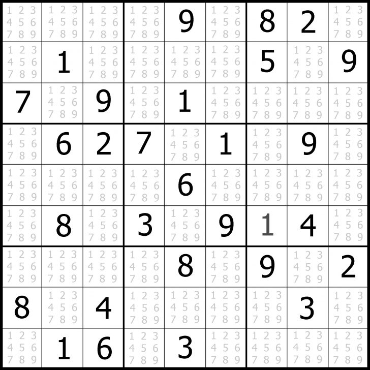 Printable Sudoku Puzzles Easy #6