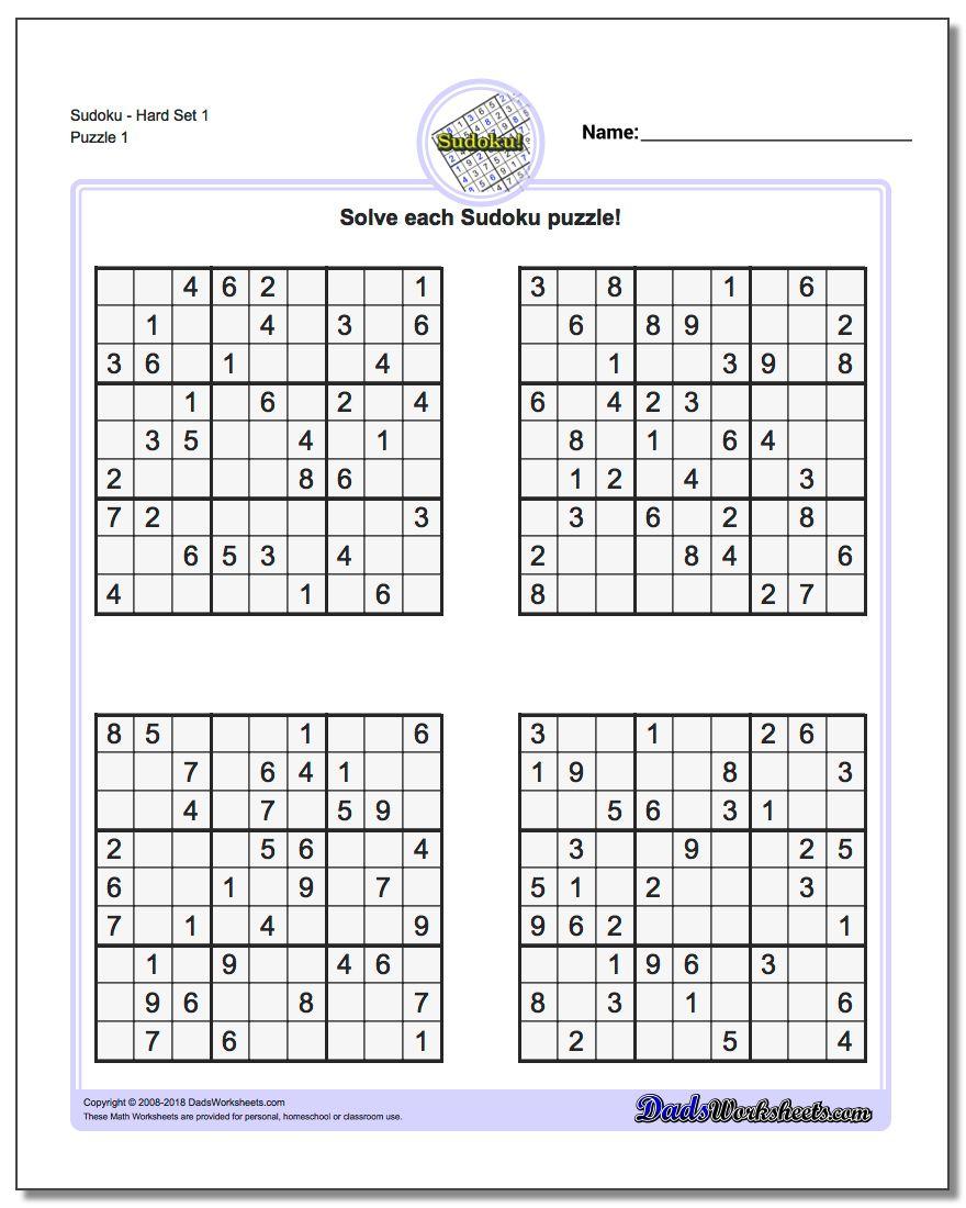 Sudoku Puzzles Printable | Ellipsis - Printable Sudoku Puzzle Hard