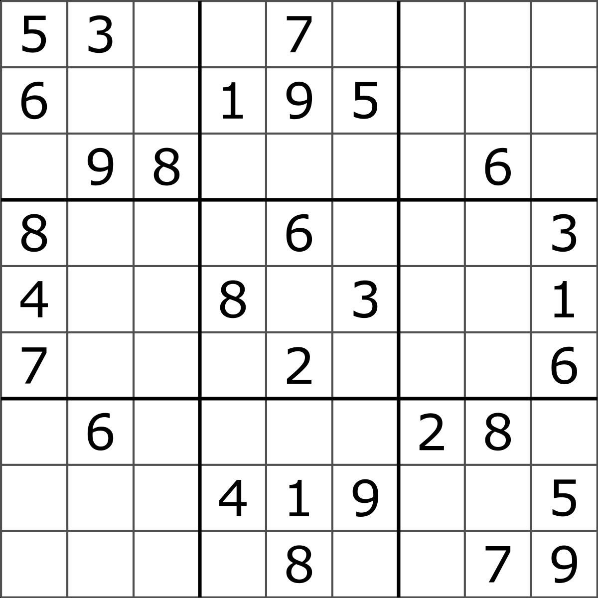 Sudoku - Wikipedia - Printable Sudoku Puzzle With Answer Key