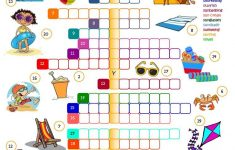 Summer Holidays – Crossword Worksheet – Free Esl Printable – Printable Holiday Crossword